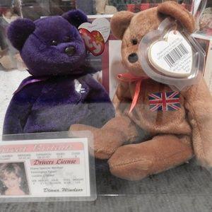 Other - Ty Beanie Princess Diana & Britannia set